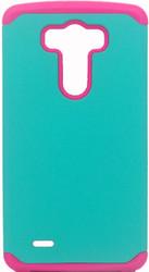 LG G3  MM Slim Dura Case Green & Pink