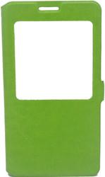 Samsung Note 3  Caller ID Flip Wallet Green