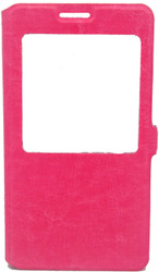 Samsung Note 3  Caller ID Flip Wallet Pink