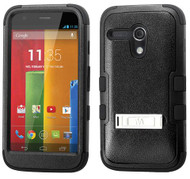 Motorola Moto G MYBAT Natural Black/Black TUFF Hybrid Phone Protector Cover (with Stand)