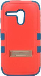 Motorola Moto G MYBAT Natural Pink/Teal TUFF Hybrid Phone Protector Cover (with Stand)