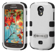 SOLD OUT Samsung Galaxy Light T399 MYBAT Natural Gray/Black TUFF Hybrid Phone Protector Cover (with Stand)