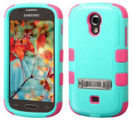 Samsung Galaxy Light T399 MYBAT Natural Teal Green/Electric Pink TUFF Hybrid Phone Protector Cover (with Stand)