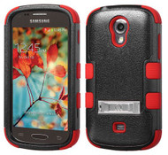 Samsung Galaxy Light T399 MYBAT Natural Black/Red TUFF Hybrid Phone Protector Cover (with Stand