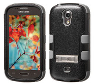 SOLD OUT Samsung Galaxy Light T399 MYBAT Natural Black/Iron Gray TUFF Hybrid Phone Protector Cover (with Stand)