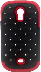 Samsung Galaxy Light T399 Dual Bling Case Red