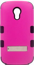 Motorola Moto G 2nd Gen MYBAT Natural Pink/Black TUFF Hybrid Phone Protector Cover (with Stand)