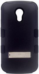 Motorola Moto G 2nd Gen MYBAT Natural Black  TUFF Hybrid Phone Protector Cover (with Stand)