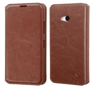 Microsoft Lumia 640 MYBAT Brown MyJacket Wallet(with Tray)(with Package)