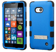 Microsoft Lumia 640 MYBAT Natural Dark Blue/Black TUFF Hybrid Phone Protector Cover (with Stand)