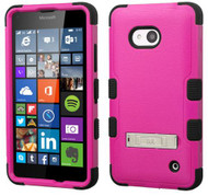 Microsoft Lumia 640 MYBAT Natural Hot Pink/Black TUFF Hybrid Phone Protector Cover (with Stand)