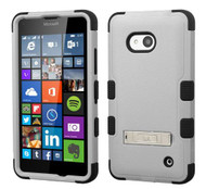 Microsoft Lumia 640 MYBAT Natural Gray/Black TUFF Hybrid Phone Protector Cover (with Stand)