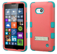 Microsoft Lumia 640 MYBAT Natural Baby Red/Tropical Teal TUFF Hybrid Phone Protector Cover (with Stand)