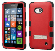 Microsoft Lumia 640 MYBAT Natural Red/Black TUFF Hybrid Phone Protector Cover (with Stand)