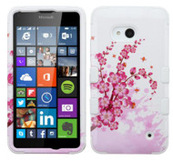 Microsoft Lumia 640 MYBAT Spring Flowers/Solid White TUFF Hybrid Phone Protector Cover