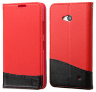 Microsoft Lumia 640 ASMYNA Red/Black MyJacket wallet (with card slot)(with Package)