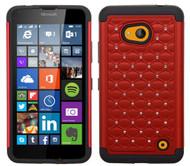 Microsoft Lumia 640 ASMYNA Red/Black FullStar Protector Cover