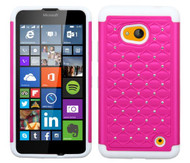 Microsoft Lumia 640 ASMYNA Hot Pink/Solid White FullStar Protector Cover