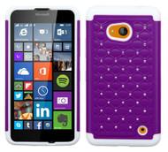 Microsoft Lumia 640 ASMYNA Purple/Solid White FullStar Protector Cover