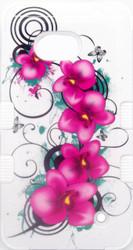 Microsoft Lumia 640 MYBAT Morning Petunias/Solid White TUFF Hybrid Phone Protector Cover
