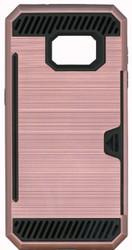 Samsung Galaxy S7 Slim Dura Metal Finish With Card Holder Rose Gold
