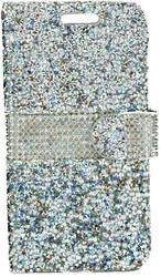 Samsung Grand Prime G530 MM Jewel Wallet Silver