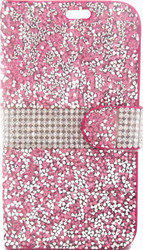 HTC Desire 626/626S MM Jewel Wallet Pink