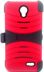 ZTE Avid Trio/Sonata 3/Prestige/ Avid Plus Armor Case with Clip Red