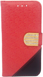 ZTE Obsidian Design Wallet With Bling Red