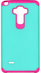 LG Stylo MM Slim Dura Case Green & Pink