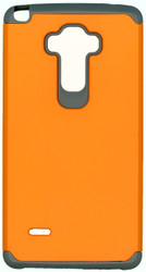 LG Stylo MM Slim Dura Case Orange & Grey
