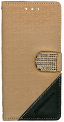 Samsung Galaxy S7 Design Wallet With Bling Light Brown