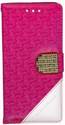 Samsung Galaxy S7 Design Wallet With Bling Pink