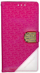 LG Stylo Design Wallet With Bling Pink