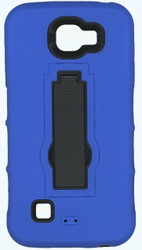 LG K4/Spree Armor Horizontal With Kickstand Blue