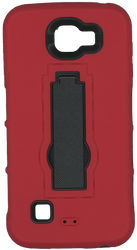 LG K4/Spree Armor Horizontal With Kickstand Red