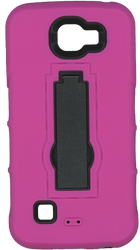 LG K4/Spree Armor Horizontal With Kickstand Pink