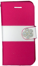Iphone 6/6S MM Flower Wallet Pink
