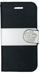 Iphone 6/6S MM Flower Wallet Black