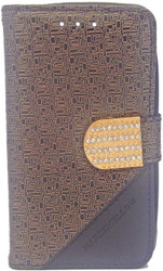 ZTE N817 Design Wallet With Bling Gold