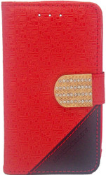 ZTE N817 Design Wallet With Bling Red