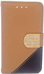 ZTE N817 Design Wallet With Bling Light Brown