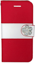 Iphone 6/6S MM Flower Wallet Red