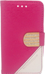 ZTE N817 Design Wallet With Bling Pink