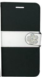 Iphone 6 Plus/6S PLUS MM Flower Wallet Black