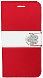 Iphone 6 Plus/6S PLUS MM Flower Wallet Red