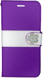 Iphone 6 Plus/6S PLUS MM Flower Wallet Purple