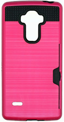 LG Stylo Slim Dura Metal Finish With Card Holder Pink