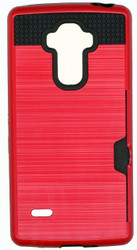 LG Stylo Slim Dura Metal Finish With Card Holder Red