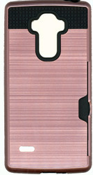 LG Stylo Slim Dura Metal Finish With Card Holder Rose Gold